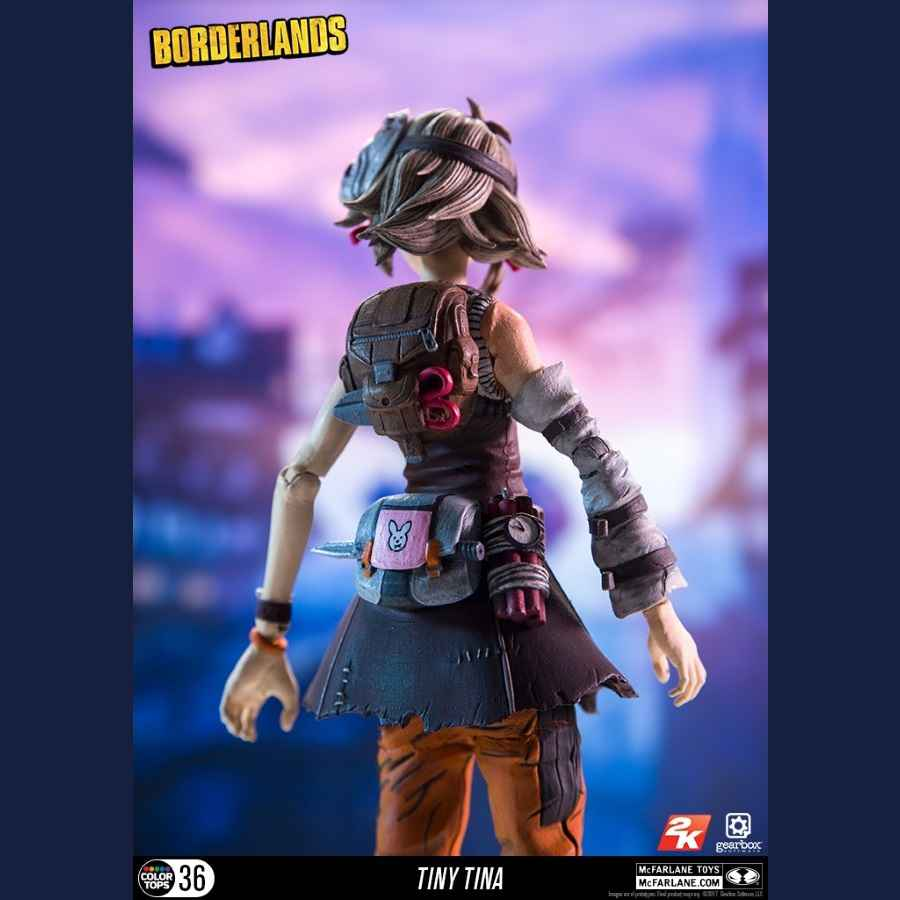BORDERLANDS TINY TINA 7 SCALE ACTION FIGURE FROM MCFARLANE TOYS